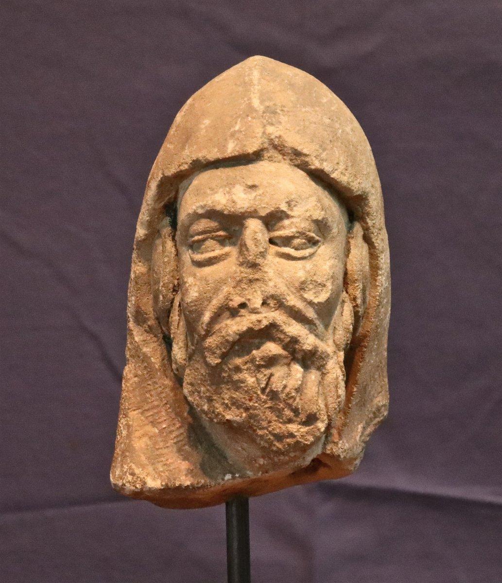 Tête De Prophète XVIème En Pierre