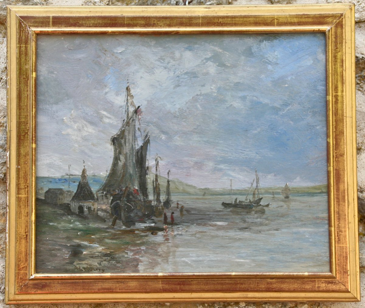 XIXth Marine Painting In The Spirit Of Lebourg