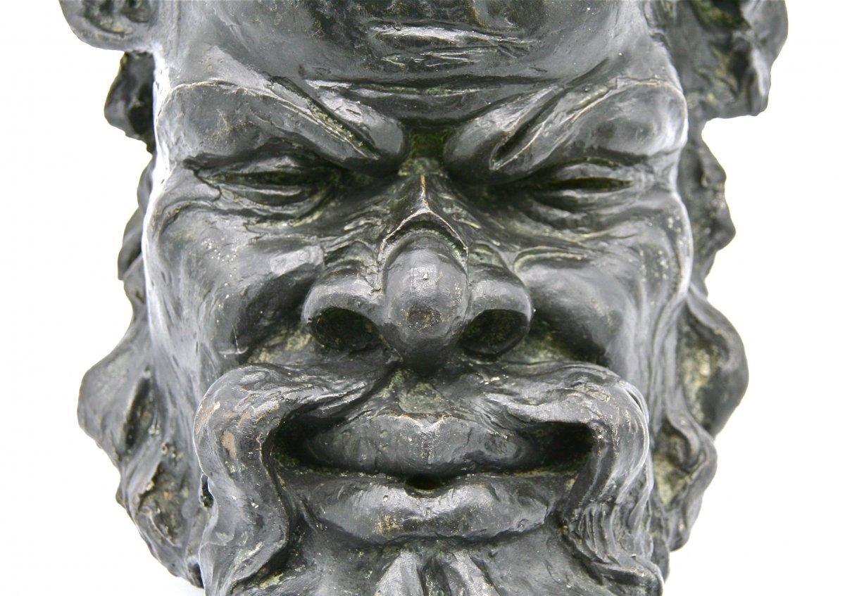 Satyr Or Grotesque Mask By Bigot