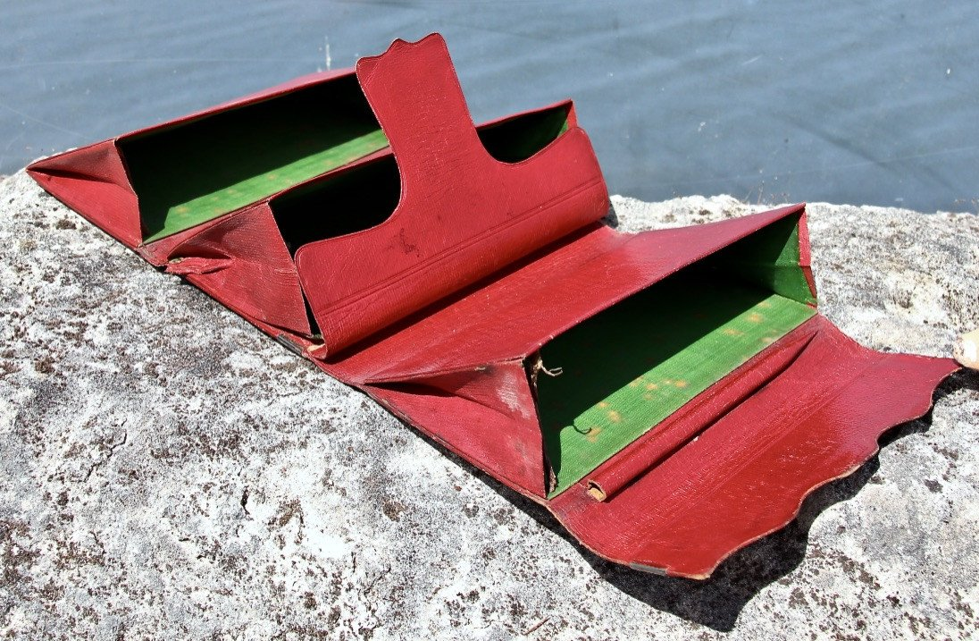Pochette Souvenir XIXème En Maroquin Rouge -photo-6
