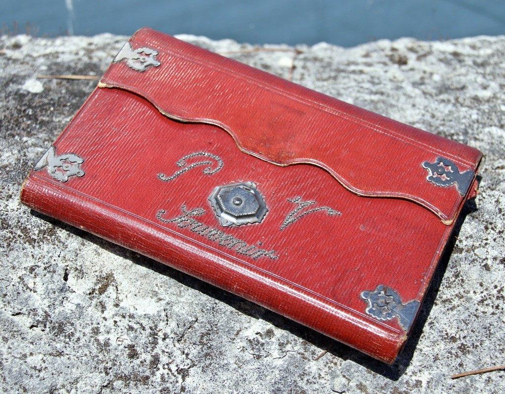 Pochette Souvenir XIXème En Maroquin Rouge -photo-7