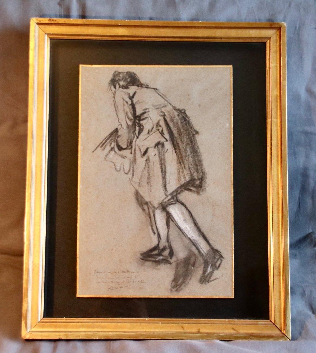 Dessin Début XXème d'Après Watteau