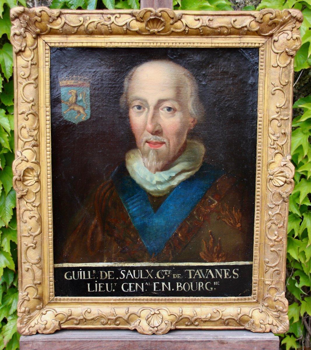 Peinture Protrait XVIIIème Guillaume De Saulx