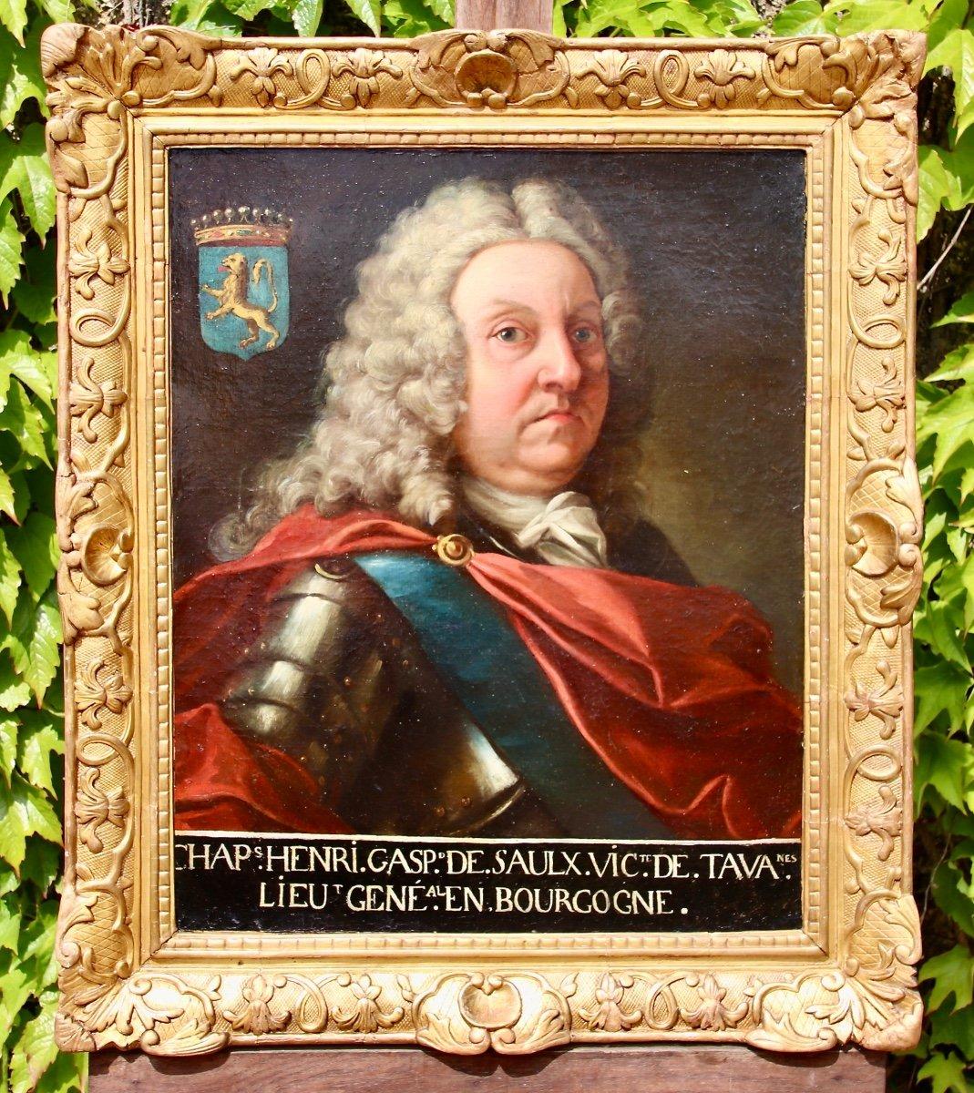 Peinture Protrait XVIIIème Henri Gaspart De Saulx