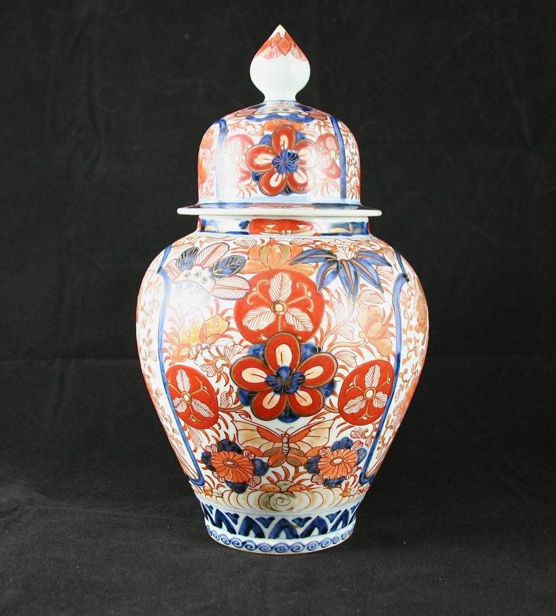 Potiche XIXème En Porcelaine Imari