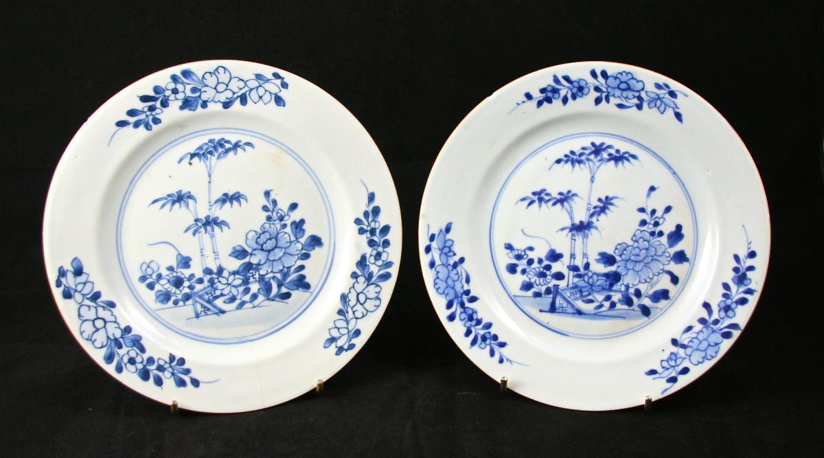 Paire d'Assiettes Chine XVIIIème