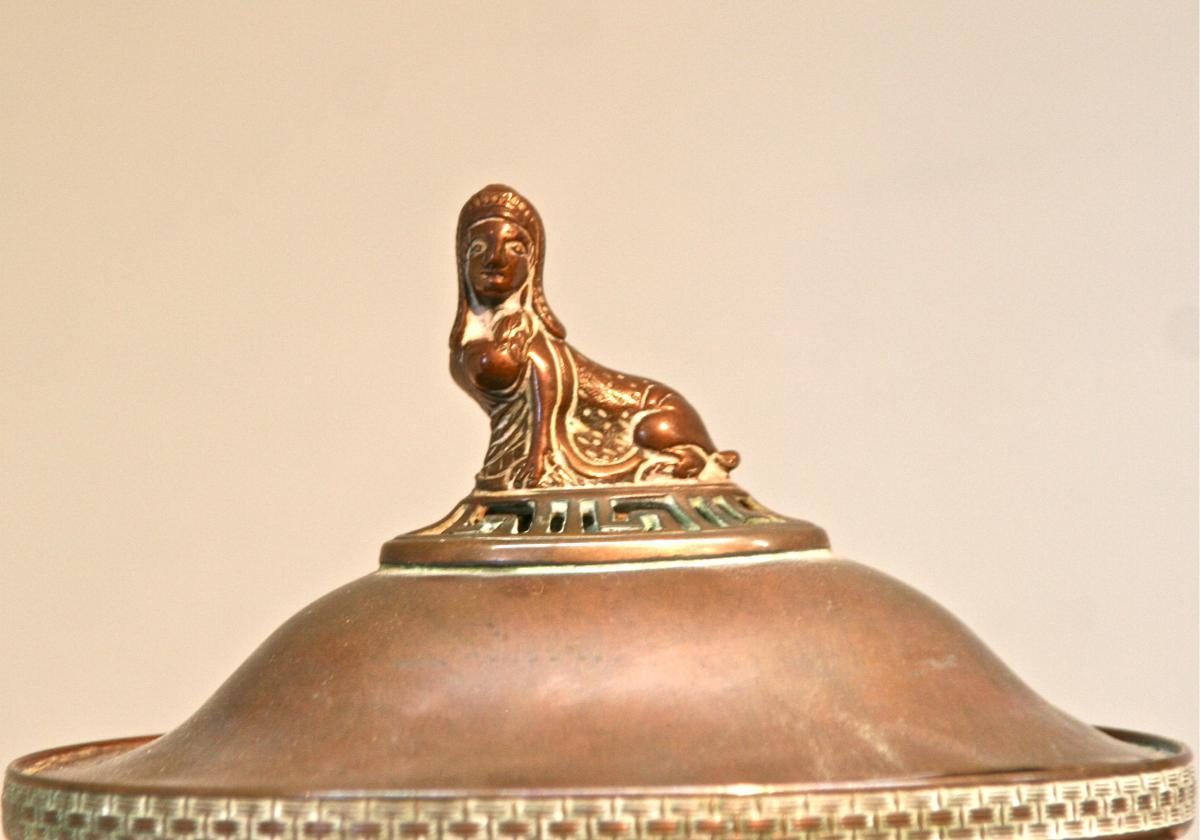 Fontaine de table en cuivre XIXème