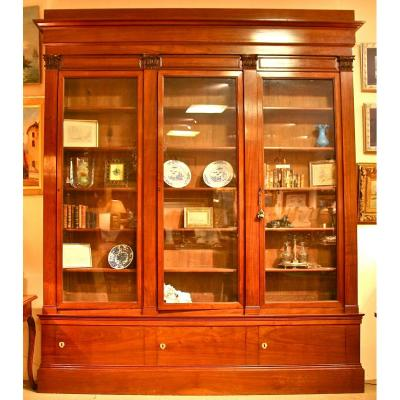 Vitrine Bibliothèque XVIIIème En Acajou