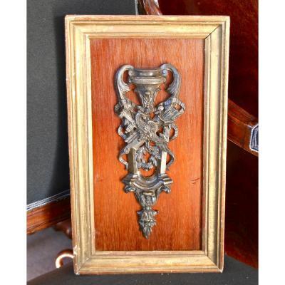 Plaque De Bronze XIXème Décorative