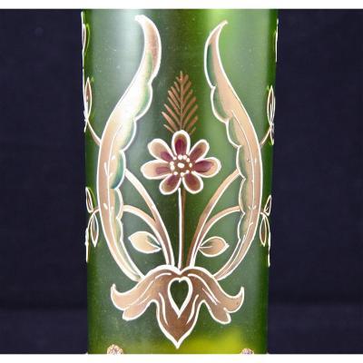 Vase émaillé Art Nouveau