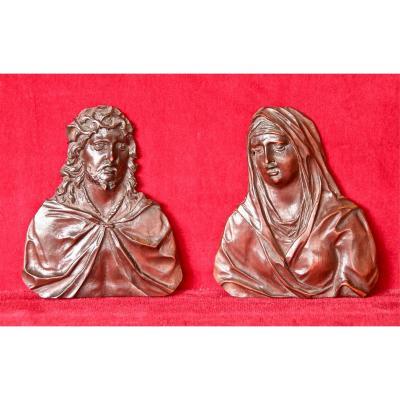 Vierge Et Christ De C. Bagard En Bois De Sainte Lucie