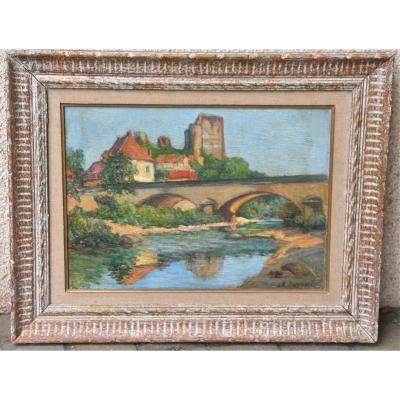 Peinture Vue Du Lot Par Cazenave