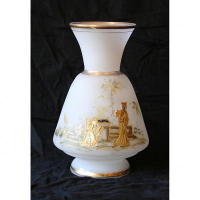 Vase En Opaline XIXème