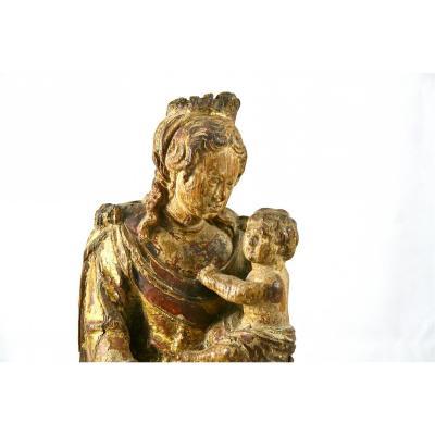 Vierge Flamande XVIIème En Chêne