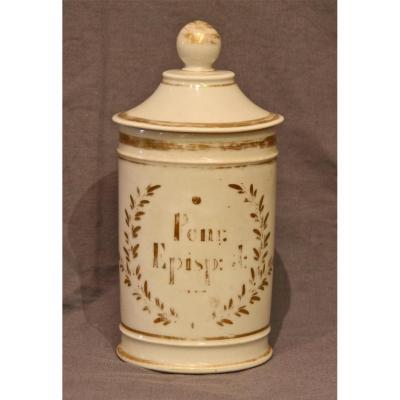 Pharmacy Jar Porcelain Nineteenth