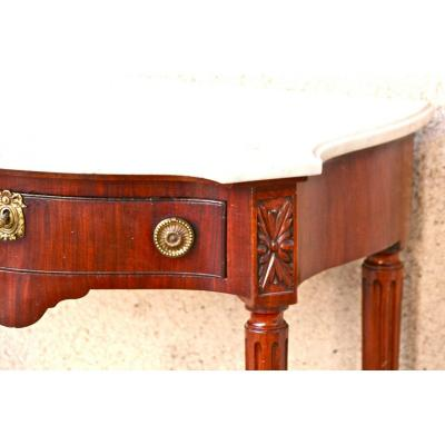 Curved Console Louis XVI Mahogany