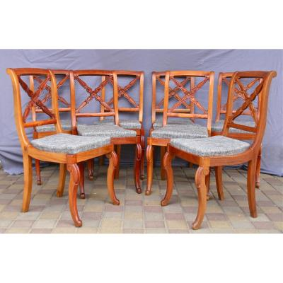 Suite 8 Chairs Chassis XIX In Cherry