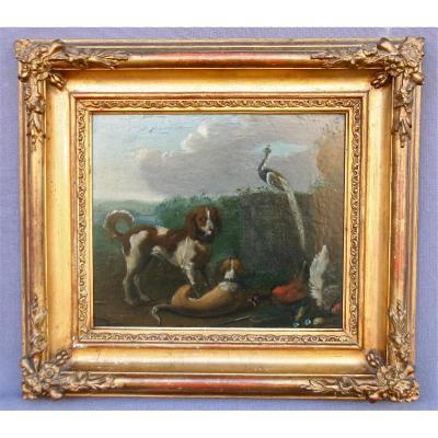 """Peinture De l'école Flamande XVIIIème """"retour De Chasse"""""""