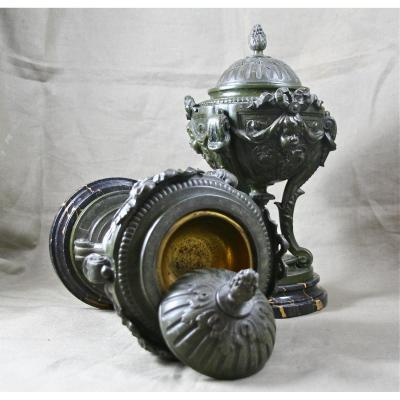 Paire d'urnes cassolettes XIXème