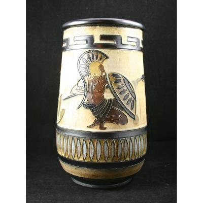 Grand vase en grès de Roger Guerin - Art Déco