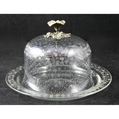 Cloche XIXème en cristal et argent