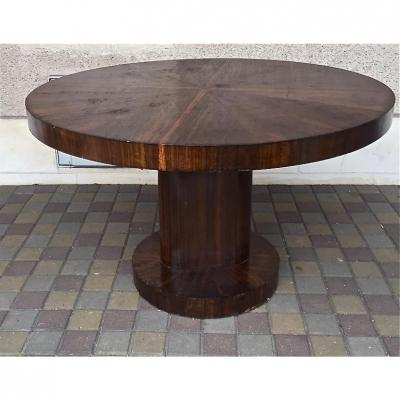Table Guéridon Art Deco In Rosewood