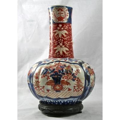 Grand Vase XIXème En Porcelaine Imari