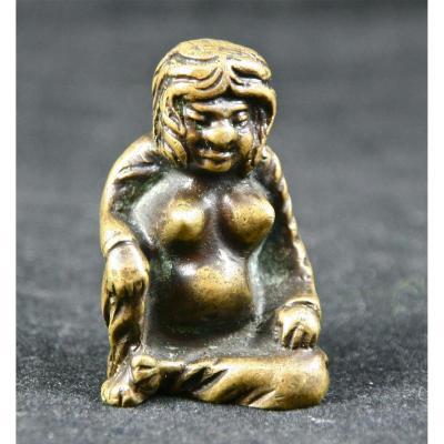 Erotic Amulet Extreme Orient XIXth Bronze