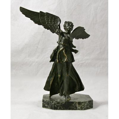 Bronze XIXème De Femme Ailée à l'Antique