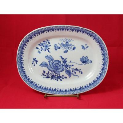 Plat En Porcelaine De Chine XVIIIème