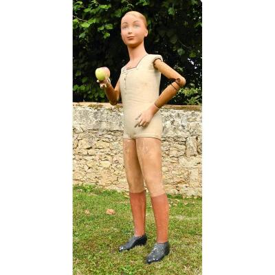 Child Mannequin Plaster And Wood 1930 Brand Siegel