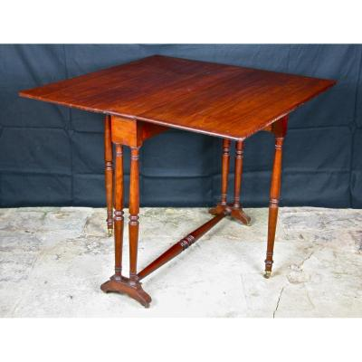 Table With Shutters XIXth Mahogany