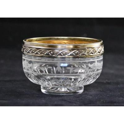 XIXth Crystal And Vermeil Cup