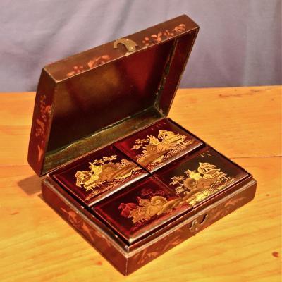 Boîte Coffret En Laque Extrême-Orient XIXème
