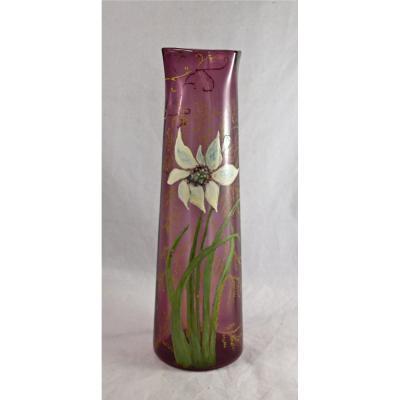Vase émaillé Art Nouveau Legras