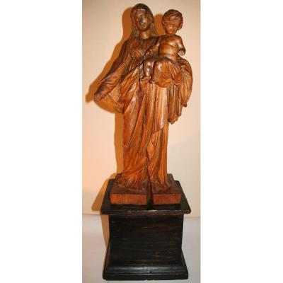 Sculpture, Vierge à l'Enfant XVIIIème