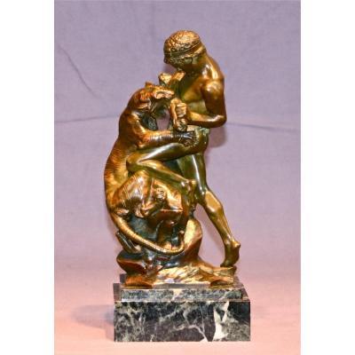 Bronze XXème de Drouot - Le Combat Du Tigre