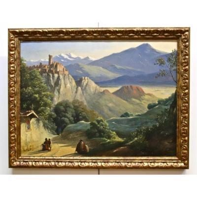 Peinture Paysage XIXème De Joseph Désiré Court