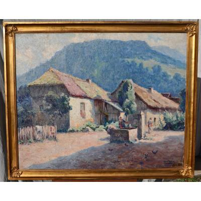 Peinture De Luc Belin Paysage Des Alpes