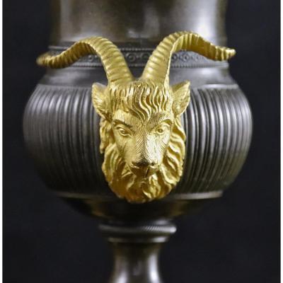 Coupes Cassolettes Médicis XIXème En Bronze Et Marbre