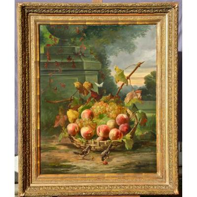 Peinture De Sureau, La Coupe De Fruits Aux Oiseaux