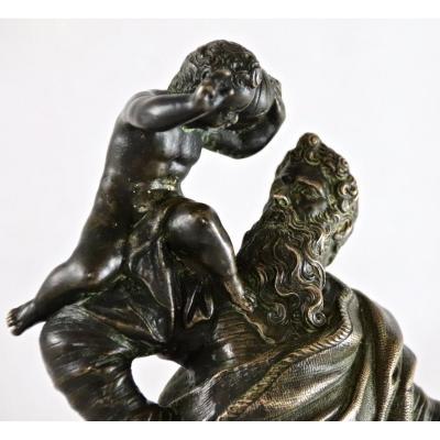 Bronze De Saint Christophe XVIIème