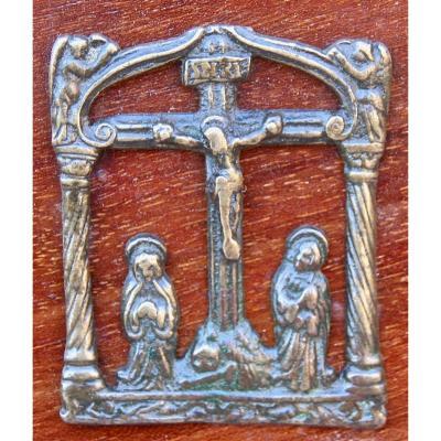 Baiser De Paix En Bronze d'Époque XVIème