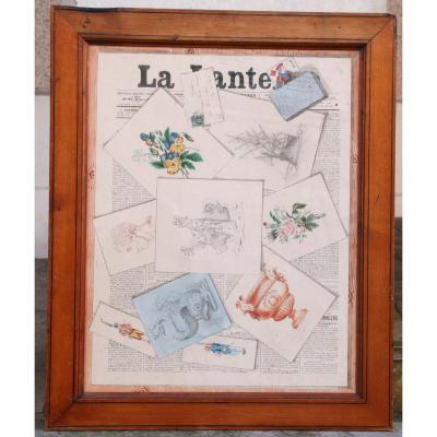 "Aquarelle Trompe L'œil ""la Lanterne"""
