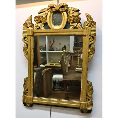Louis XVI Style Mirror, 18th Century In Golden Wood