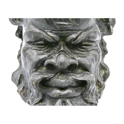 Satyr Or Grotesque Mask By Bigot