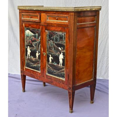 Louis XVI Style Buffet With Japanese Lacquer Panels