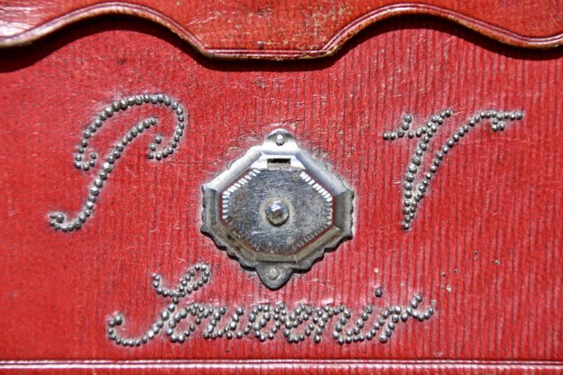 Pochette Souvenir XIXème En Maroquin Rouge -photo-4