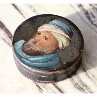 Boîte XIXème Portrait d'Homme Ottoman Au Turban