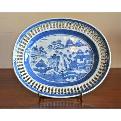 Plat Porcelaine De Chine XVIIIème